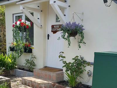 outside rose cottage